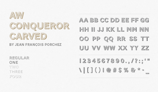 Fonts ~  AW Conqueror Carved